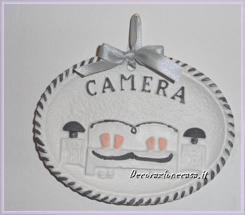 Targa camera in gesso francesca bomboniere for Camera targa