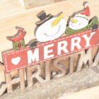 scritta natalizia merry christmas in legno francesca