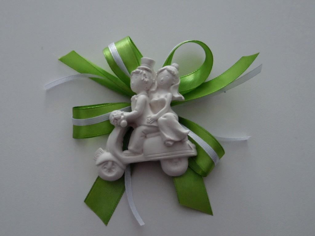 Segnaposto Matrimonio Verde.Sposini Vespa Segnaposto Verde Francesca Bomboniere